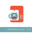 coffee maker machine outline icon workspace sign vector image