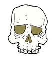 comic cartoon spooky skull vector image vector image