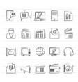 connection communication and technology icons vector image vector image
