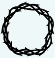 Crown of thorns black simple icon vector image vector image