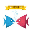 cute fish cartoon underwater life ocean animals vector image vector image