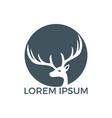 deer logo design vector image vector image