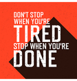 dont stop wont stop red background vector image vector image