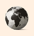 Earth - World Globe Crumpled Paper vector image vector image