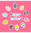 Eastern colorful pink greeting card vector image vector image