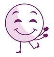 face emoticon kawaii character vector image vector image