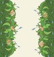 flora frame4 01 vector image vector image