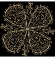 Floral ornament in circle vector image vector image