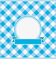 gingham invitation card vector image