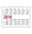 Grid pocket calendar 2018 vector image