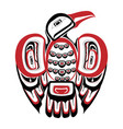 haida bird tattoo ornament in haida style isolat vector image vector image