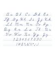 hand drawn uppercase calligraphic alphabet vector image