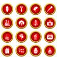 happy birthday icons set simple style vector image vector image