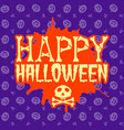 happy halloween greeting card typography design vector image