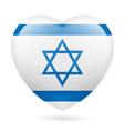 Heart icon of Israel vector image