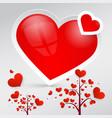 hearts heart symbols vector image vector image