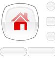 Home white button vector image vector image