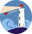 I Love Lighthouses vector image vector image