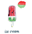 icecream watermelon vector image vector image