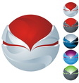 icon sphere vector image vector image