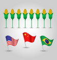 infographics top producer of corn vector image vector image