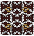 islamic design white textile print white pattern vector image vector image