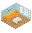 Isometric interior lounge room vector image