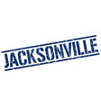 jacksonville blue square stamp vector image vector image