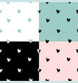 lovely hand drawn valentine s day seamless vector image