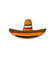 mexican sambrero feast for cinco de mayo hand vector image vector image