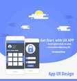 mobile app ux design template concept vector image vector image