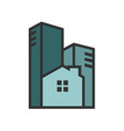 monotone urban living vector image vector image