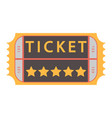 movie ticket admit one vector image