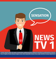 news anchor man vector image vector image