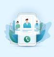 online medical consultation flat concept vector image