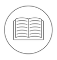 Open book line icon vector image vector image
