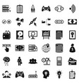 organization icons set simple style vector image vector image