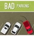 Parking scene poster vector image vector image
