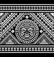polynesian seamless geometric pattern vector image vector image