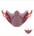Protective sports mask Scary Monster mask or vector image