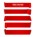 red paper roll long size collection isolat vector image