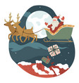 santa claus delivering presents for citizens vector image vector image