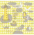 scrapbook background sketches vector image