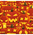 seamless halloween party pattern with hell scary vector image vector image