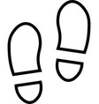 shoe prints line icon vector image