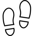 shoe prints line icon vector image vector image