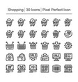shopping line icon vector image vector image