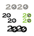 soccer symbol new 2020 year background vector image vector image
