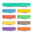 sticky note with flat color vector image vector image