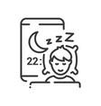 time to sleep - line design single isolated vector image
